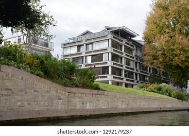 Cambridge, England – September 30, 2018: Queens' College, Cambridge, United Kingdom, Europe