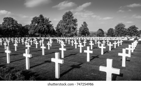 CAMBRIDGE, England, UK - 25 October 2017: American World War Two Cemetery. The Cambridge American Cemetery is the only American WW2 cemetery in the United Kingdom.