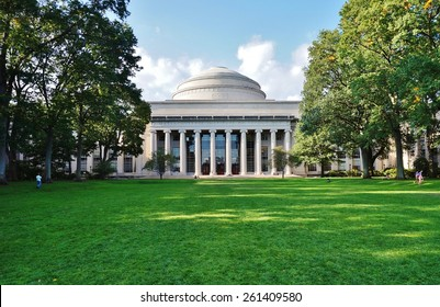 CAMBRIDGE, MA -CIRCA OCT 2013- Editorial: Founded in 1861, the Massachusetts Institute of Technology (MIT) is one of the world's leading research universities, especially in engineering and science.