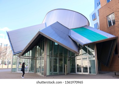 Cambridge, MA - March 16 2019: Entrance to the MIT Stata Center