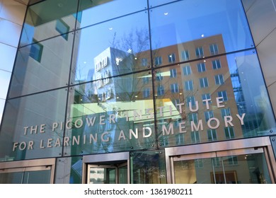 Cambridge, MA - March 16 2019: Entrance to the Picower Institute for Learning and Memory at MIT
