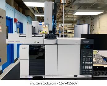 Cambridge MA USA - 3/16/2020 - Agilent 7890B GC-MS for Gas chromatography–mass spectrometry