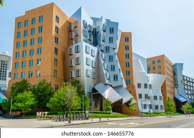 CAMBRIDGE, MASSACHUSETTS - CIRCA MAY 2013: The Stata Center in Cambridge, USA, circa May 2013. Academic complex designed by architect F. Gehry for the Massachusetts Institute of Technology (MIT)