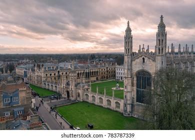 Cambridge sunset. King's College. taken in winter?2017