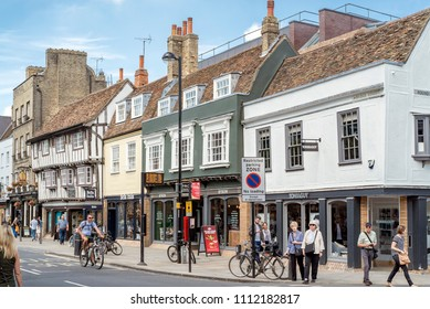 Cambridge, UK. 3rd June 2018. The Streets, Lanes and Architecture of the historic City of Cambridge in England on a warm summer's afternoon.