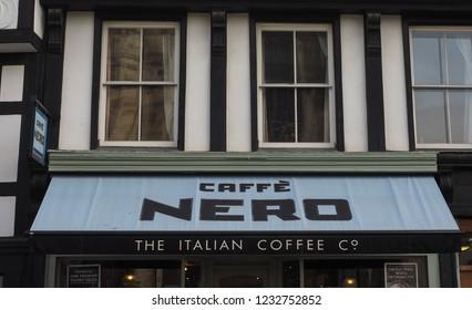 CAMBRIDGE, UK - CIRCA OCTOBER 2018: Caffe Nero storefront