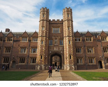 CAMBRIDGE, UK - CIRCA OCTOBER 2018: Second Court at St John's College