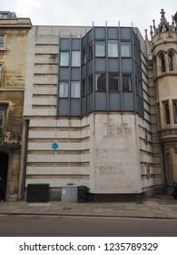 CAMBRIDGE, UK - CIRCA OCTOBER 2018: Keynes Building at King's College