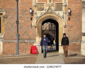 CAMBRIDGE, UK - CIRCA OCTOBER 2018: St John's College