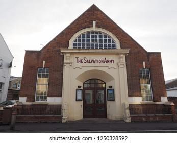 CAMBRIDGE, UK - CIRCA OCTOBER 2018: The Salvation Army