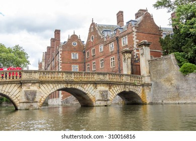 CAMBRIDGE, UK - JULY 24, 2015: St John's College in the University of Cambridge, England. The college was founded by Lady Margaret Beaufort.