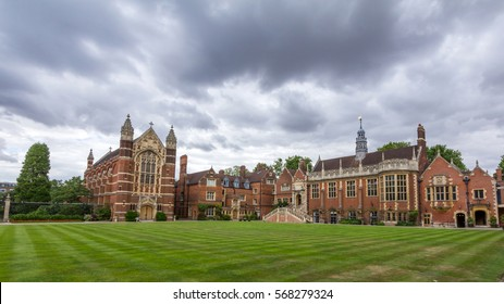 CAMBRIDGE, UK - OCT 19, 2016: Selwyn College chapel and other college buildings. It is a constituent college in the University of Cambridge in England, founded by the Selwyn Memorial Committee.