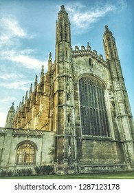 Cambridge, UK - October 2 2016: A HDR image of the front of King's College in Cambridge, UK