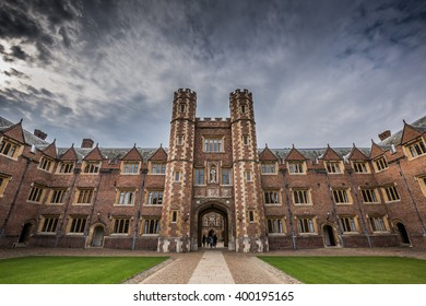 CAMBRIDGE, UNITED KINGDOM - APRIL 03, 2016: A view of Second Court at St John's College