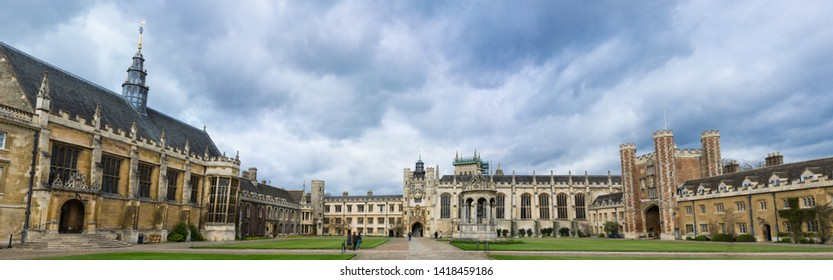 Cambridge / United Kingdom - March 18 2017: Trinity College is a constituent college of the University of Cambridge. The largest in either of the Oxbridge universities by number of undergraduates.