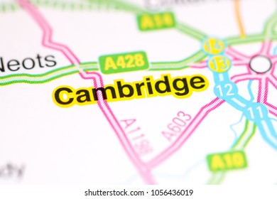 Cambridge. United Kingdom on a map