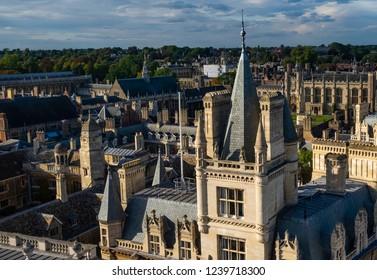 Cambridge university, college rooftops