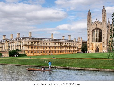 Cambridge University, King's College from across the river