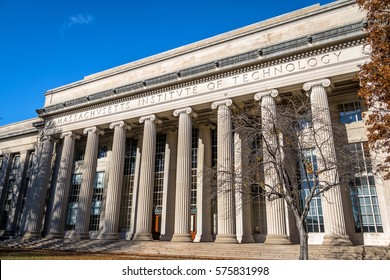 CAMBRIDGE, USA - December 01, 2016:  Massachusetts Institute of Technology (MIT) - Cambridge, Massachusetts, USA