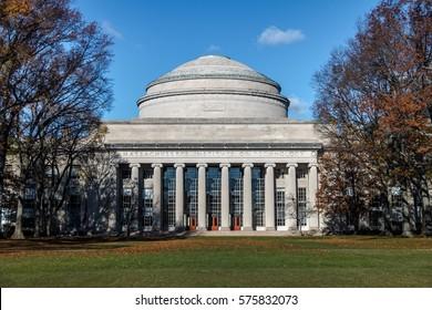 CAMBRIDGE, USA - December 01, 2016:  Massachusetts Institute of Technology (MIT) Dome - Cambridge, Massachusetts, USA