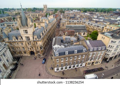 Cambridge view from Great Saint Mary's Church tower