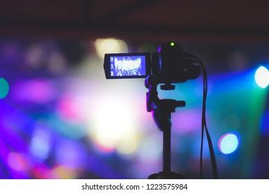 camcorder recording concert