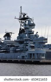 Art print POSTER Servicemen Aboard USS New Jersey