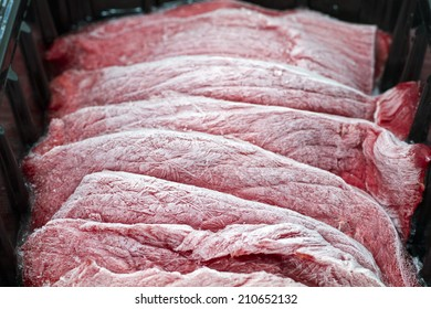 Came from the freezer ready to be cooked meats.