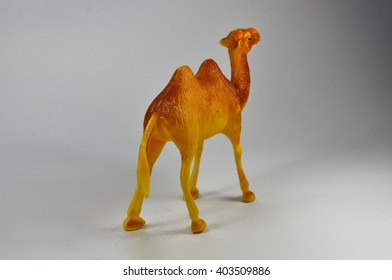 Camel brown toy on a white background