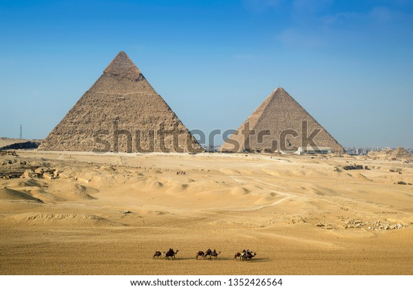 Camel Rides Around Great Pyramids Giza Stock Photo (Edit Now) 1352426564