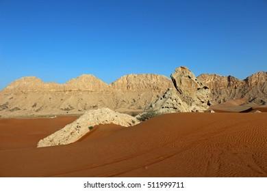 Camel rock in Sharjah