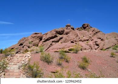 Camelback Mountain Hiking Trail in Phoenix, Arizona