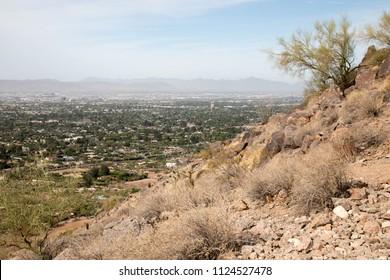 Camelback mountainside in Scottsdale, Arizona