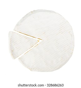 Camembert cheese isolated on a white background