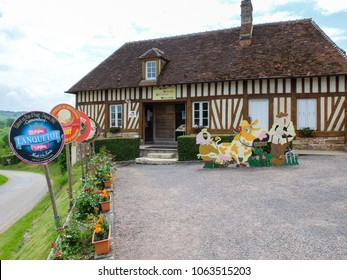 Camembert, France, Jun 2nd 2014: Museum of Camembert, traditional french cheese