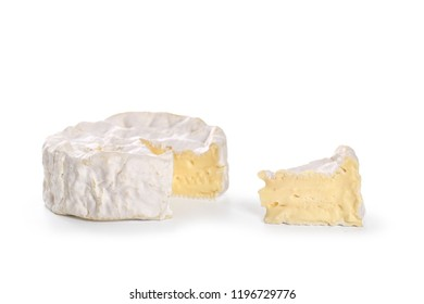 camembert isolated on white background