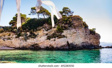Cameo Island, - the most popular wedding locations in the Greek islands, Zakynthos, Zante, Laganas.