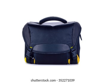 Camera bag on a white background
