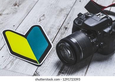 Camera, beginner's mark, japan