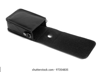 Camera case on a white background