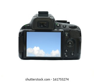 camera display isolated on white background