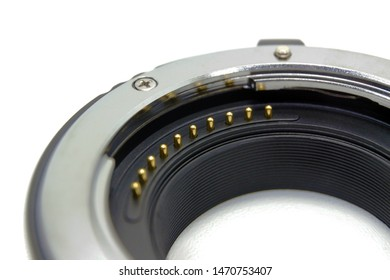 Camera extension tube contact from lens side