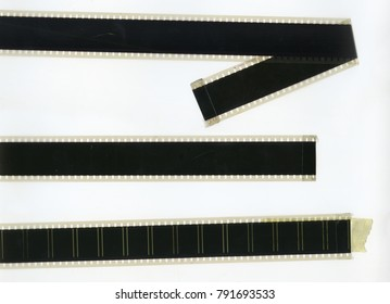 Camera film strip, isolated on white background
