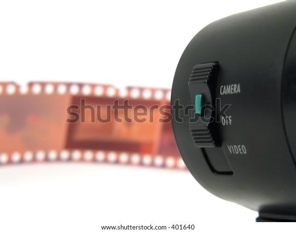 Camera and film-strip