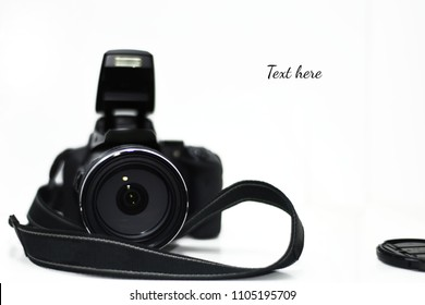 Camera isolated on white background.
