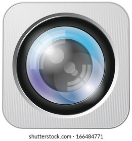 Camera lens app icon with blends and transparents