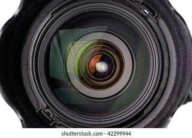 Camera lens with blend closeup