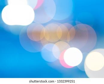 camera lens bokeh effect on blue background