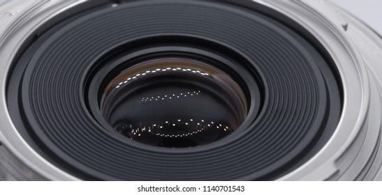 Camera lens, up close macro shot.