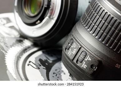 Camera lens details.